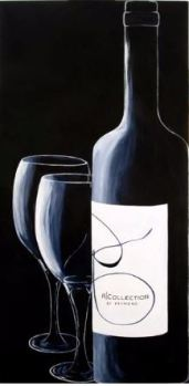 """A Bottle of Red"" Acrylic 24"" x 48"""