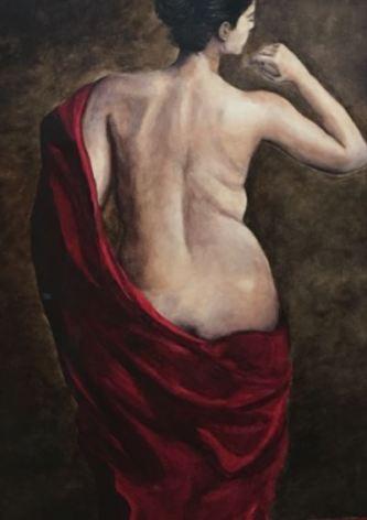 """""""Draperie Muilee"""" 31 x 38"""