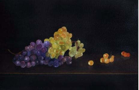 """Fruit of The Vine"" Watercolor 21.25"" x 14"""