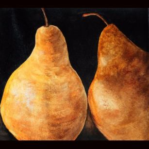 """Golden Pears"" Watercolor 10"" x 9"""
