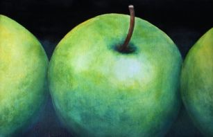 """Granny Smith Knows Best"" Watercolor 21.5"" x 14.25"""