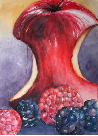 """Juicy and Yummy"" Watercolor 22.25"" x 29.75"""