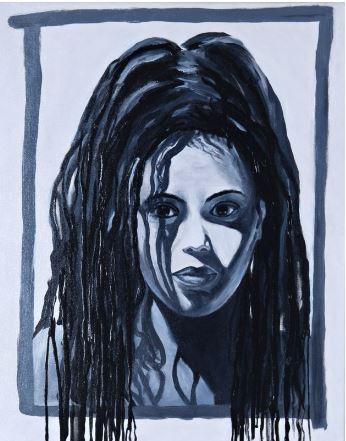 """Keisha"" Acrylic Art Dimensions: 16"" x 20"""