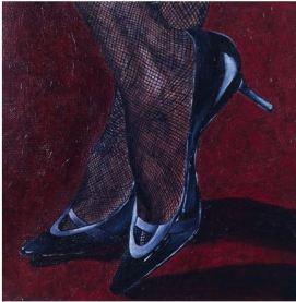 """""""Kitten Heel"""" Acrylic 12 x 12"""