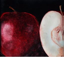 """""""Red Delicious Apples"""" Watercolor 10.5"""" x 9.25"""""""