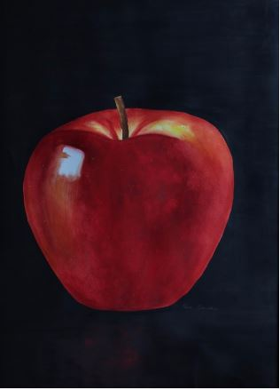 """""""The Apple of My Eye"""" Watercolor 20.75"""" x 17.75"""""""