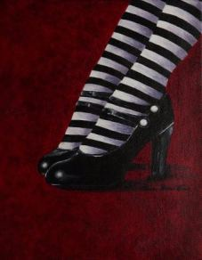 """The Wicked Witch is Dead"" Acrylic 12 x 19"